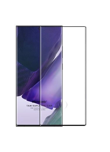 Microsonic Samsung Galaxy Note 20 Ultra Tam Kaplayan Temperli Cam Ekran Koruyucu Siyah Siyah
